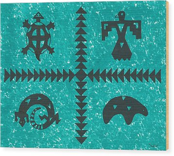 Southwest Symbols Wood Print