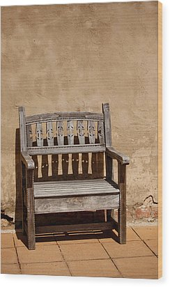 Southwestern Bench Wood Print by Art Block Collections