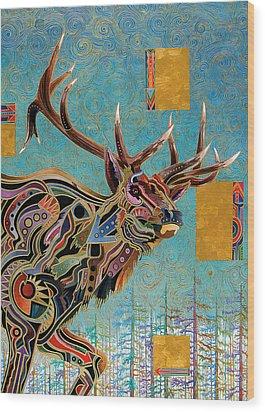 Southwestern Elk Wood Print