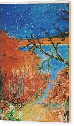Southwestern Image II Wood Print by Anne-Elizabeth Whiteway