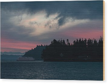 Southworth Ferry Run At Dawn Wood Print