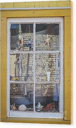 Souvenir Store Window Wood Print by Elena Elisseeva