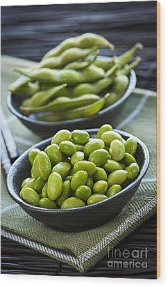 Soy Beans  Wood Print by Elena Elisseeva
