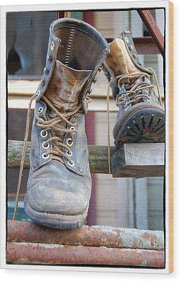 Sp Boots Wood Print