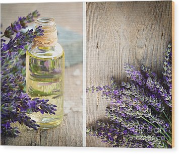 Spa With Lavender  Wood Print by Mythja  Photography