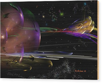 Space Abstraction Wood Print by David Lane