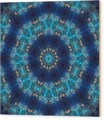 Space Kaleidoscope Wood Print
