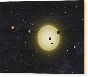 Space Kepler 11 Introduction Wood Print by Movie Poster Prints