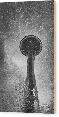 Space Needle II Wood Print
