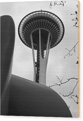 Space Needle Wood Print by Kirt Tisdale