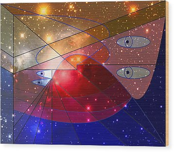 Space Odyssey 08 Wood Print by Ron Davidson