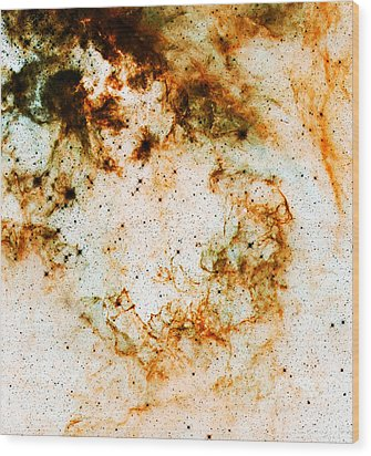 Space Rust Wood Print by Jennifer Rondinelli Reilly - Fine Art Photography
