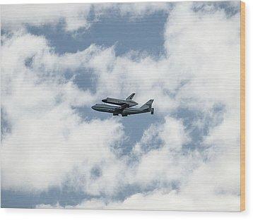 Space Shuttle Enterprise  Wood Print by Wayne Gill