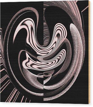 Space Time Continuum Wood Print by Georgeta  Blanaru