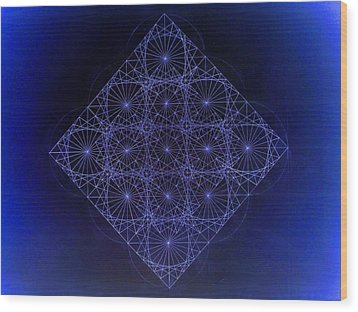 Space Time Sine Cosine And Tangent Waves Wood Print by Jason Padgett