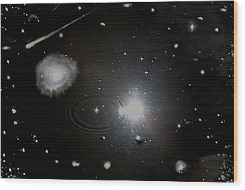 Wood Print featuring the photograph Spacescape  by Christopher Rowlands