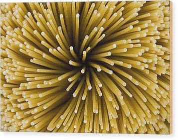 Spaghetti Noodles Wood Print by Joe Belanger