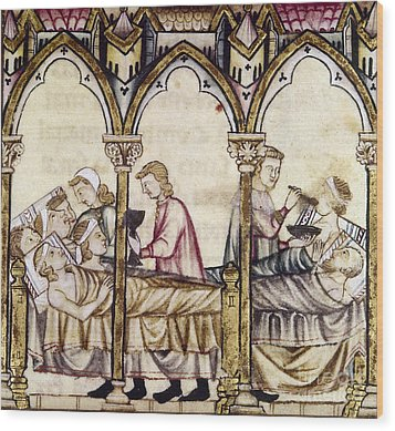 Spain: Medieval Hospital Wood Print by Granger