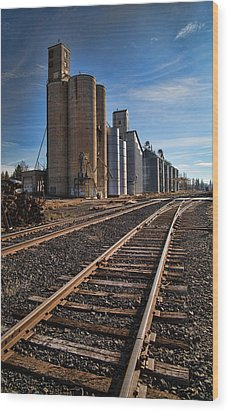 Spangle Grain Elevator Color Wood Print