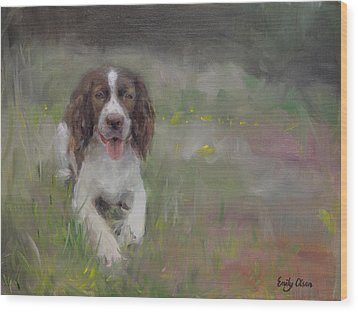 Spaniel At Rest Wood Print