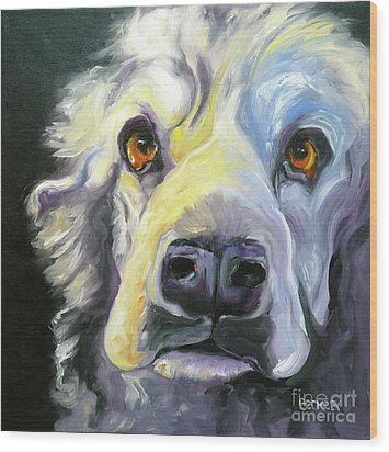 Spaniel In Thought Wood Print by Susan A Becker