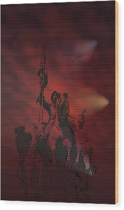 Wood Print featuring the digital art Spanish Cavalry by Angel Jesus De la Fuente