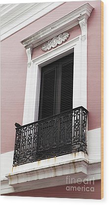 Spanish Colonialism Architecture Wood Print by John Rizzuto