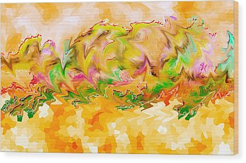Spanish Dancer 01 Wood Print by A Dx