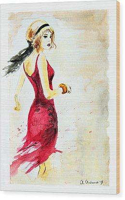 Spanish Girl Wood Print by Anna Androsovski