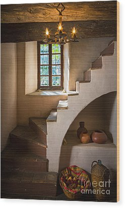 Spanish Governors Palace Wood Print by Inge Johnsson