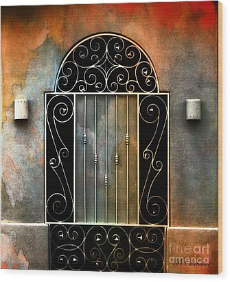 Spanish Influence Wood Print by Barbara Chichester