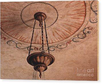 Spanish Lamp Wood Print by Lawrence Burry