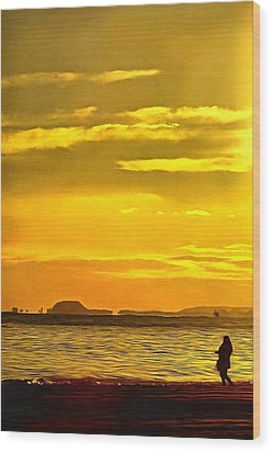 Spanish Marine Sunset Wood Print