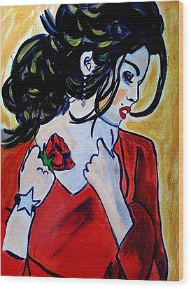 Spanish Rose Wood Print