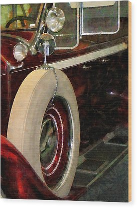 Spare Tire Wood Print by Susan Savad