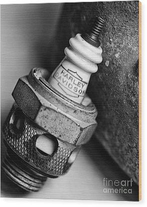 Spark Plug  1 Wood Print by Wilma  Birdwell