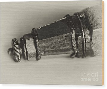 Spark Plug  Lighthouse Wood Print by Wilma  Birdwell
