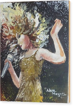 Sparkle Wood Print by Alana Meyers