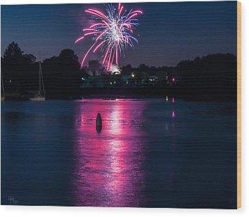 Sparkling Marina Wood Print by Glenn Feron