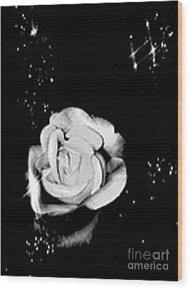 Sparkling Rose Wood Print by Gayle Price Thomas