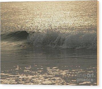 Sparkling Sea In Hunting Island Dawn Wood Print