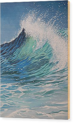 Sparkling Turquoise Wood Print