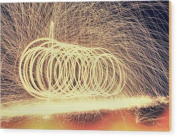 Sparks Wood Print by Dan Sproul