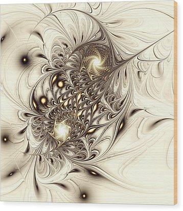 Sparrow Wood Print by Anastasiya Malakhova