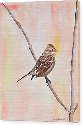 Sparrow I Wood Print