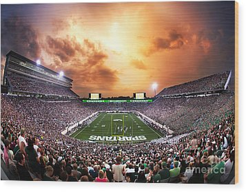 Spartan Stadium Wood Print