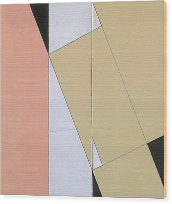 Spatial Relationship Wood Print by George Dannatt
