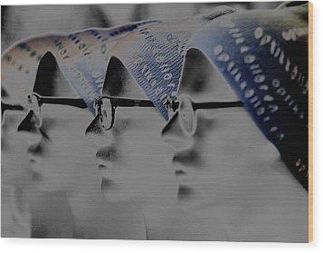 Spec Glasses  Wood Print by Tommytechno Sweden