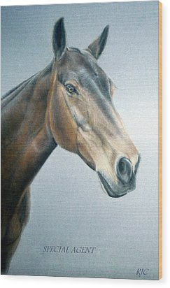 Wood Print featuring the painting Special Agent by Rosemary Colyer