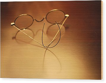 Spectacles At Rest Wood Print by Mary Beth Landis